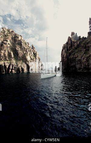 Aeolian islands, Italy - Stock Photo