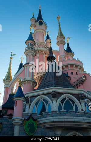 Sleeping Beauty's Castle, Disneyland Paris (Euro Disney) - Stock Photo
