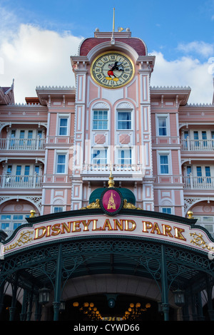 Disneyland Park Entrance, Euro Disney, Paris - Stock Photo