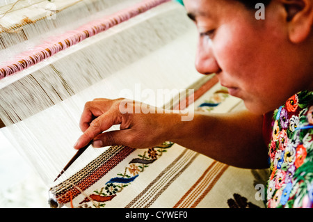 at Casa del Tejido Antiguo, an indigenous textile museum and market in Antigua, Guatemala - Stock Photo