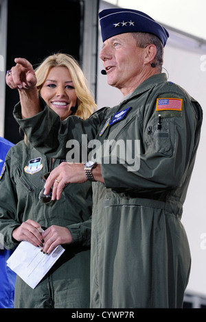 Lt. Gen Mike Gould, superintendent of the U.S. Air Force Academy is introduced by co-host Charissa Thompson during - Stock Photo