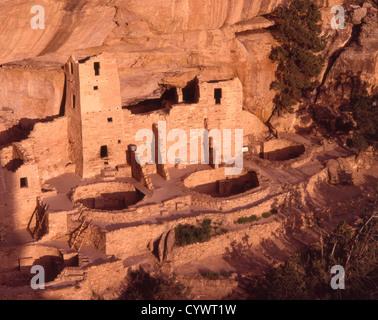USA, Colorado, Mesa Verde National Park, Cliff Palace, - Stock Photo
