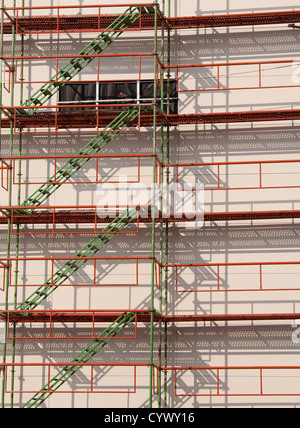 scaffolding construction background - Stock Photo