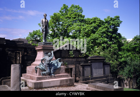 American Civil War Memorial or Scottish-American Soldiers Monument, Old Calton Burial Ground, Edinburgh, Scotland, - Stock Photo