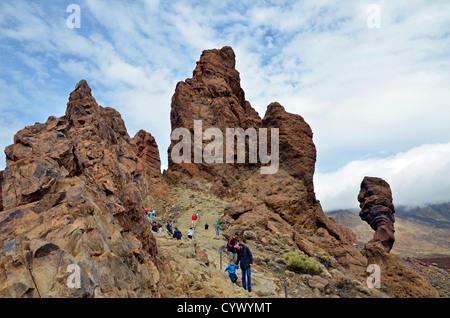 roques de garcia, teide national park, tenerife, canary islands - Stock Photo