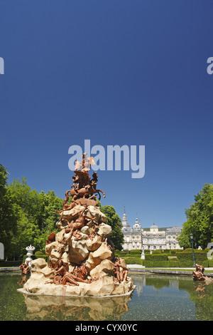 Gardens of the Royal Palace of La Granja de San Ildefonso, Spain - Stock Photo
