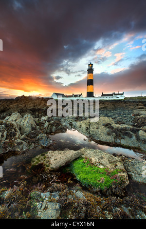 St Johns lighthouse in county Down at sunset. - Stock Photo