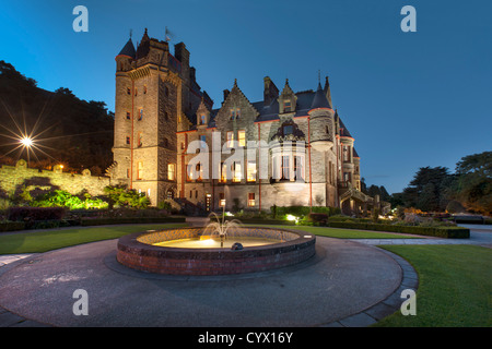 Night capture of Belfast Castle, Northern Ireland. - Stock Photo