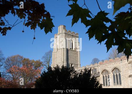 sudbury town centre st gregory parish church suffolk england uk gb - Stock Photo