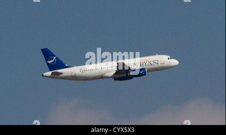 October 28, 2012 - Aleppo, Syria: An airplane takes off from the Aleppo International Airport during the Eid Al - Stock Photo
