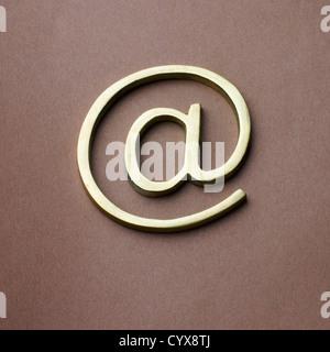 Close-up of at symbol - Stock Photo