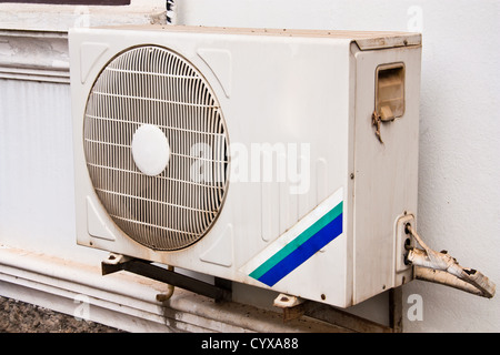 Air conditioner condenser unit to supply the home - Stock Photo