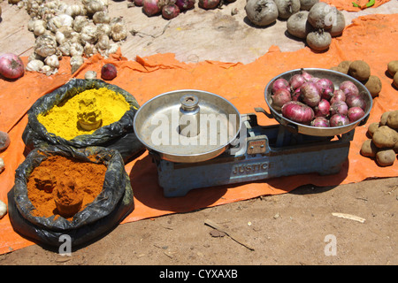Ethiopia. Omo Valley, Bana Tribe Market - Stock Photo