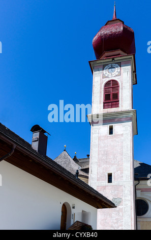 Italy, Dolomites, Trentino Alto Adige, Ortisei, the church on the hill - Stock Photo