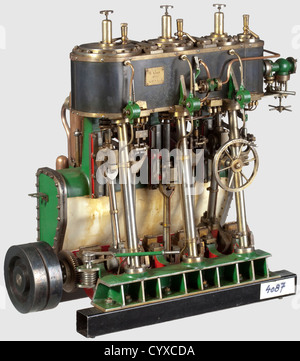 A very well detailed model triple expansion vertical reversing condensing marine engine, Built by H. Wall 1970 ¦S.D.S.M.E - Stock Photo