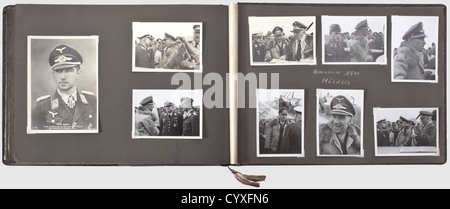 A photo album of the tTime of service and a letter opener, of a Luftwaffe member of the Condor Legion Large format - Stock Photo