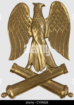 SECONDE REPUBLIQUE ET SECOND EMPIRE 1848-1870, Aigle de pavoisement de l'artillerie de la Garde Impériale, de Napoléon - Stock Photo