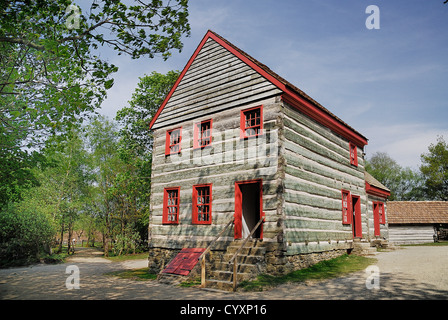 Ulster American Folk Park, the Pennsylvania farmhouse. Eire Irish Northern Europe Republic - Stock Photo