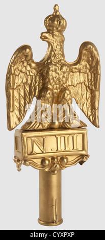 SECONDE REPUBLIQUE ET SECOND EMPIRE 1848-1870, Aigle de pavoisement du Second Empire, Ensemble réalisé en cuivre - Stock Photo