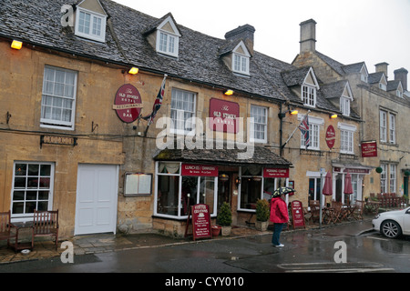 The Old Stocks Hotel in Stow on the Wold, Gloucestershire, England - Stock Photo