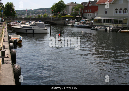 Brevik in south Norway - Stock Photo