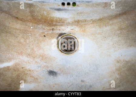 old dirty sink - Stock Photo