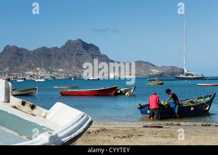 Sao Vicente Mindelo Cape Verde old town island sea - Stock Photo