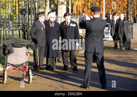 The men and women of Remembrance Sunday in and around whitehall London 2012  Poppy Day - Stock Photo