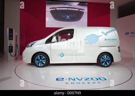 Nissan E-NV200 electric Concept Van  the International for Commercial Vehicles in Hannover, Germany 2012 - Stock Photo
