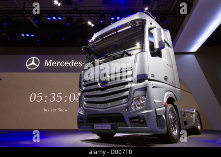 New mercedes benz actros 1851 ls truck at the iaa for New mercedes benz commercial
