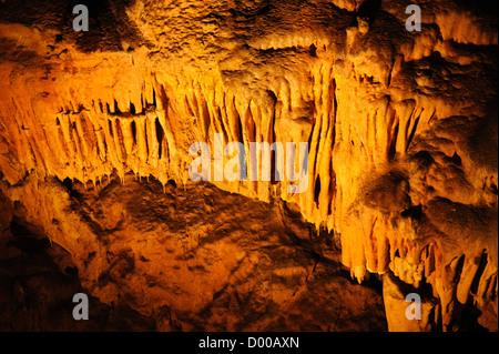 Biserujka cave, Krk island, stalactites,stalagmites, Croatia - Stock Photo