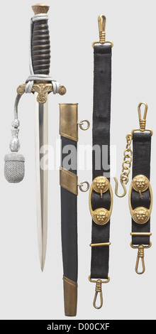 A model 37 dagger for officers of the water customs with portepee and naval hanger, Maker Paul Weyersberg, Solingen - Stock Photo