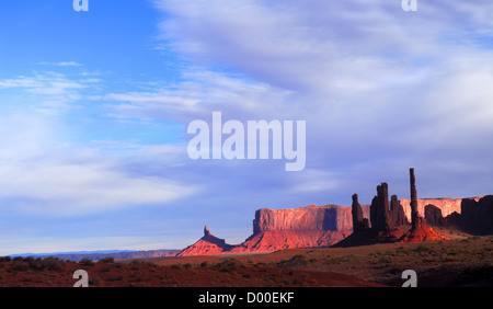 First light striking the formations in Mystery Valley - Stock Photo