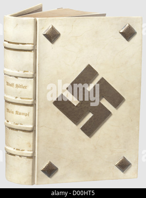 Jacques Buser-Kobler (BUKO) - a deluxe 'Mein Kampf' edition with Hitler dedication to NSDAP-Ortsgruppe Basel 1935, - Stock Photo