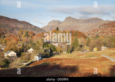 Elterwater in the Great Langdale Valley, Cumbria - Stock Photo