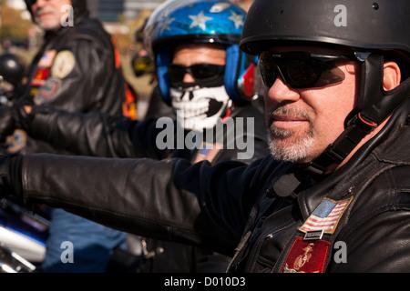 Harley Davidson motorcycle club members - Stock Photo