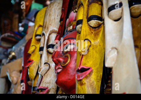 Indian Masks for Sale at Store - Stock Photo