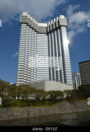 November 14, 2012, Tokyo, Japan - Against the backdrop of the autumn sky, Grand Prince Hoel Akasaka still stands - Stock Photo