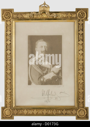 Kaiser Wilhelm Ii A Dedication Picture Frame Gilt Brass Frame