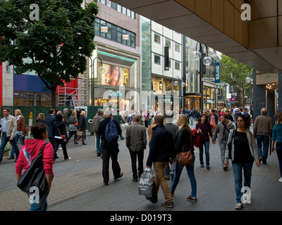 many people shopping in the city center of cologne nrw germany stock photo royalty free image. Black Bedroom Furniture Sets. Home Design Ideas