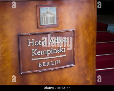 Hotel Adlon Kempinski in Berlin Germany - Stock Photo