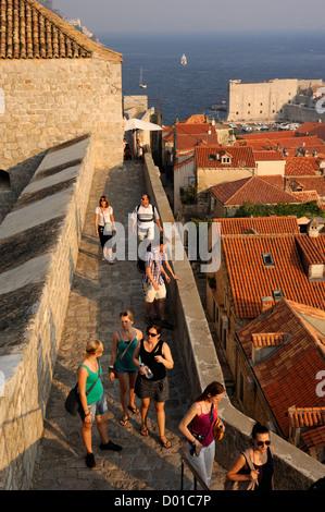 croatia, dubrovnik, walls - Stock Photo