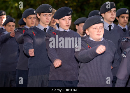 Air training corps cadets at remembrance sunday parade for School uniform leamington spa