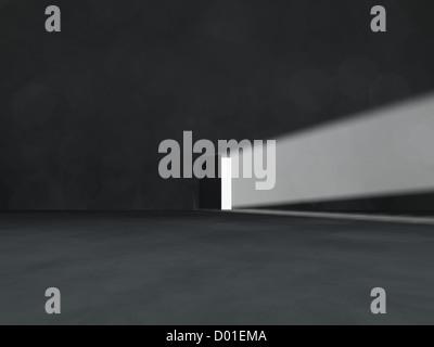 Light coming through an opened door - Stock Photo