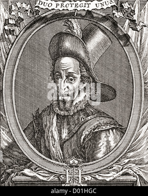 Henry IV, 1553 –1610. King of Navarre (as Henry III) from 1572 to 1610 and King of France from 1589 to 1610. - Stock Photo