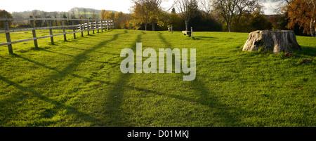 English common land in autumn (the fall), Calverton, Nottingham, Nottinghamshire, England, UK - Stock Photo