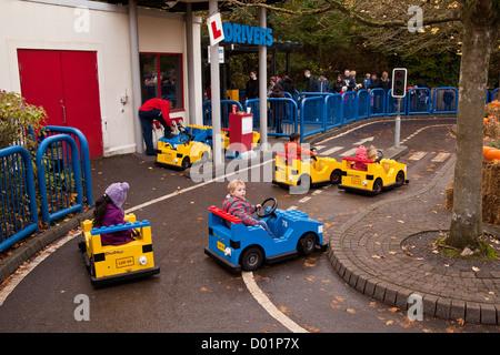 L-Drivers ride at Legoland theme park, Windsor, England, United Kingdom. - Stock Photo