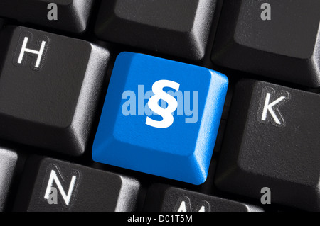 Keyboard With Paragraph Symbol Stock Photo 76301153 Alamy