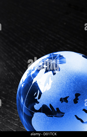 global business or eco concept with black copyspace - Stock Photo