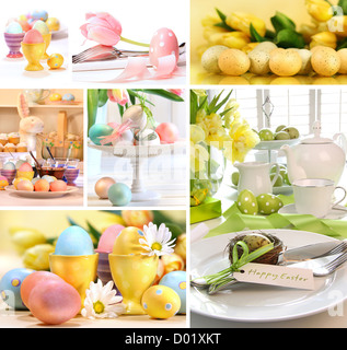 Collage of colorful images for easter - Stock Photo